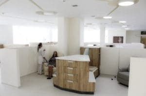 Дневной стационар (боксированные палаты) отделения гематологии Клиники Спиженко