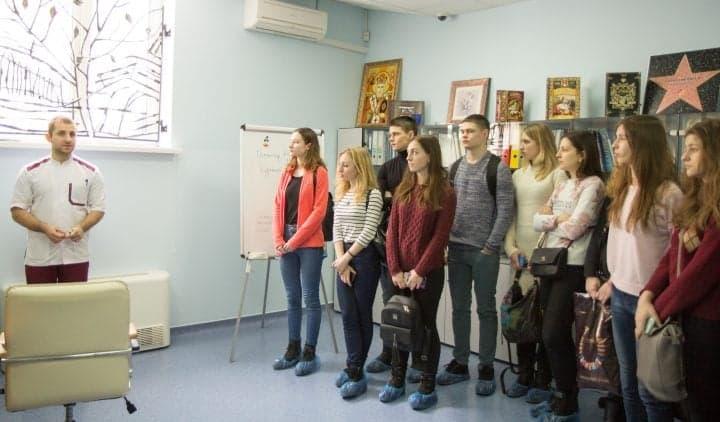 В гостях у Клиники Спиженко студенческий актив Национального медицинского университета им. А.А. Богомольца