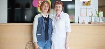 врач Клиники Спиженко с пациенткой