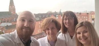 Специалисты Клиники Спиженко Р.Зелинский и Ю.Копанева с коллегами из Университетской клиники города Лунд (Швеция)